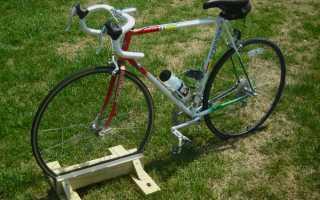 Стойка для велосипеда своими руками