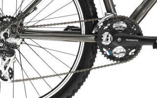 Установка цепи на велосипед