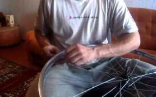 Как переспицевать колесо