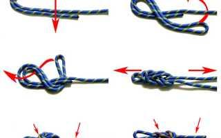 Как привязать карабин к веревке