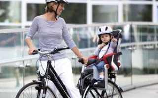 Сидушки для детей на велосипед