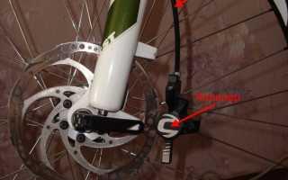 Снятие вилки с велосипеда