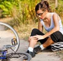 После велосипеда болит колено