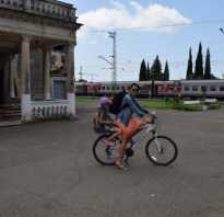 Велосипед в поезде дальнего следования