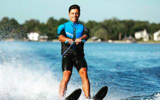 Как кататься на водных лыжах