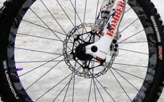 Установка переднего колеса на велосипед