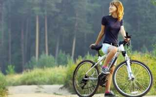 Посадка на велосипеде