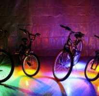 Светодиоды на колеса велосипеда