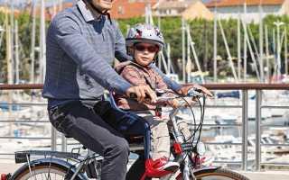 Детское седло на раму велосипеда